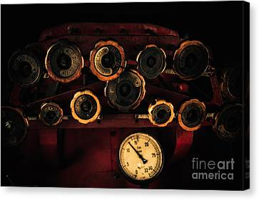 Rare Steam Locomotive Engine Cab Knobs And Controls Canvas Print by Alexandra K
