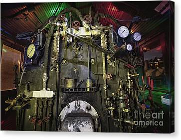 Canvas Print featuring the photograph Steam Locomotive Engine by Keith Kapple