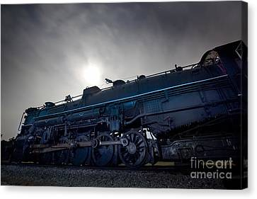 Canvas Print featuring the photograph Steam Locomotive by Keith Kapple