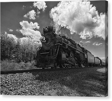 Steam Locomotive Passing Through Canvas Print