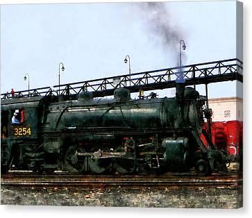 Steam Locomotive Canvas Print by Susan Savad