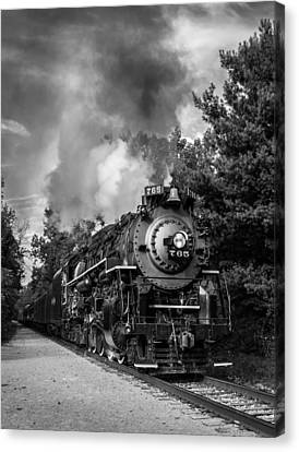 Steam On The Rails Canvas Print by Dale Kincaid