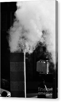 Steam Pipe Vent Stack New York City Canvas Print by Joe Fox
