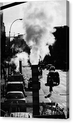 Steam Pipe Vent Stack New York City Street Manhattan Canvas Print by Joe Fox