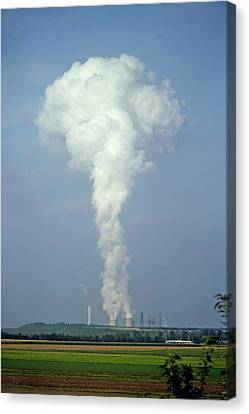 Canvas Print featuring the photograph Steam Plume by Rod Jones