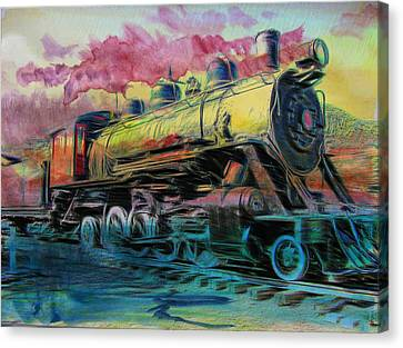 Steam Powered Canvas Print by Aaron Berg