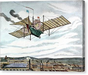 Steam-powered Flying Machine Canvas Print by Universal History Archive/uig