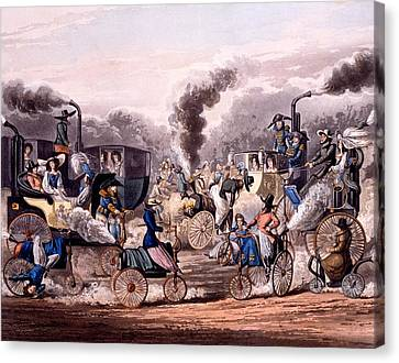 Steam-powered Vehicles Canvas Print