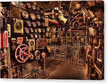 Steam Punk Battleship Engine Room Canvas Print by Movie Poster Prints
