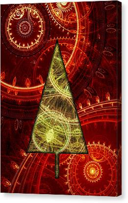 Steam Punk Christmas 1 Canvas Print by Martin Capek