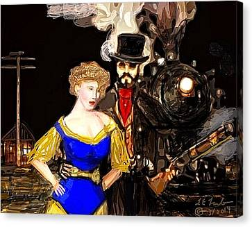 Steam Punk Love Canvas Print by Larry Lamb