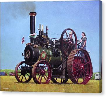 steam traction engine Ransomes Sims and Jefferies General Purpose Engine Canvas Print by Martin Davey
