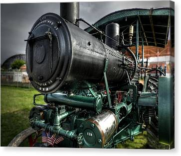 Steam Tractor 001 Canvas Print by Lance Vaughn