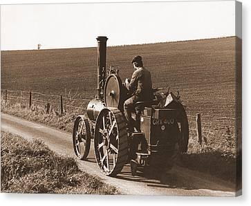 Steam Tractor Canvas Print