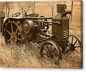 Steam Tractor Canvas Print by Leland D Howard