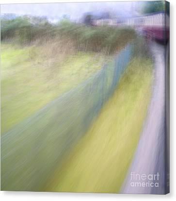 Steam Train Abstract Canvas Print by Natalie Kinnear