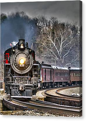 Steam Train Canvas Print by Alan Raasch