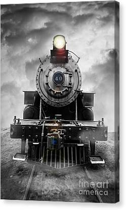 Train Tracks Canvas Print - Steam Train Dream by Edward Fielding