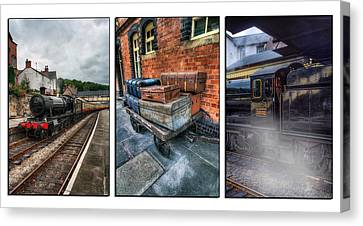 Steam Train Memories Tryptych Canvas Print by Ian Mitchell