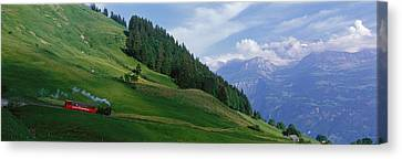 Steam Train Near Brienz Switzerland Canvas Print by Panoramic Images