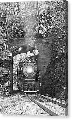 Steam Train Tunnel Canvas Print