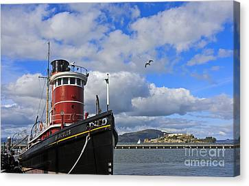 Canvas Print featuring the photograph Steam Tug Hercules by Kate Brown