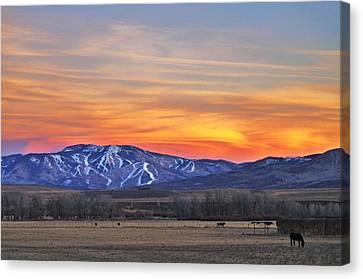 Steamboat Alpenglow Canvas Print