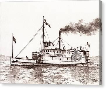Steamboat Idaho Sepia  Canvas Print
