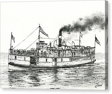 Steamboat Reliance Canvas Print