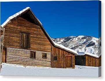 Steamboat Springs Historic Barn Canvas Print by Teri Virbickis