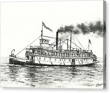 Steamboat State Of Washington Canvas Print