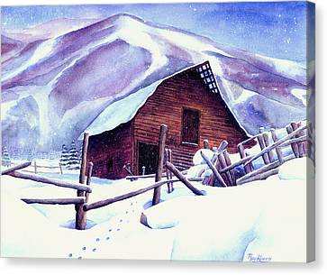 Steamboat Winter Canvas Print by Mary Giacomini