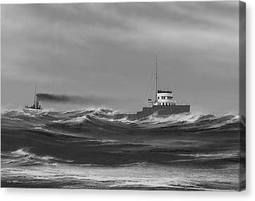 Steamer James Carruthers Canvas Print by Captain Bud Robinson
