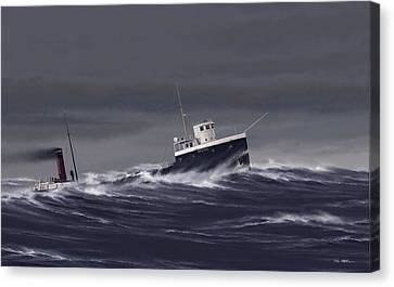 Steamer Regina Canvas Print by Captain Bud Robinson