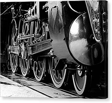 Canvas Print featuring the photograph Steamer Up 844 Wheels by Bartz Johnson
