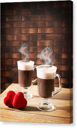 Steaming Hot Chocolates Canvas Print by Amanda Elwell
