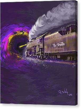 Steaming Into The Black Hole Of History Canvas Print