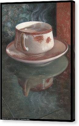 Steaming Tea In A Japanese Cup Canvas Print