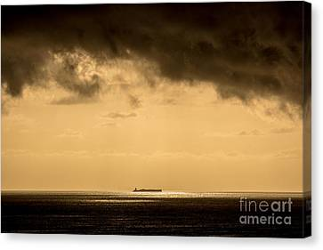 Steaming Thru The Sunrise Canvas Print by Rene Triay Photography