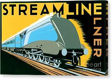 Steamline Train Canvas Print by Brian James