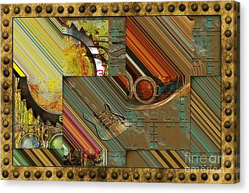 Steampunk Abstract Canvas Print by Liane Wright