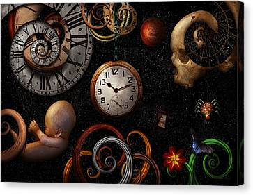 Steampunk - Abstract - The Beginning And End Canvas Print by Mike Savad