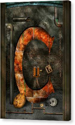Steampunk - Alphabet - C Is For Chain Canvas Print by Mike Savad