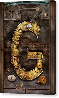 Clockmaker Canvas Print - Steampunk - Alphabet - G Is For Gears by Mike Savad