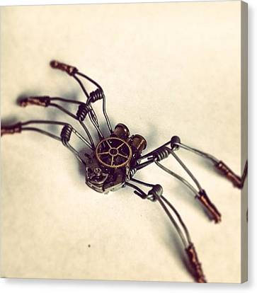 #steampunk #bugs More To Come Canvas Print by Dana Forte