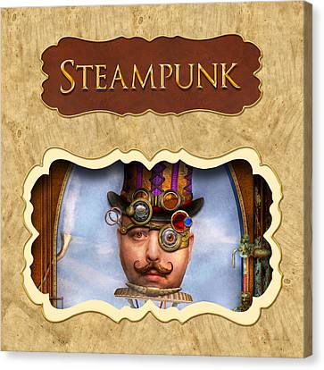 Steampunk Button Canvas Print by Mike Savad