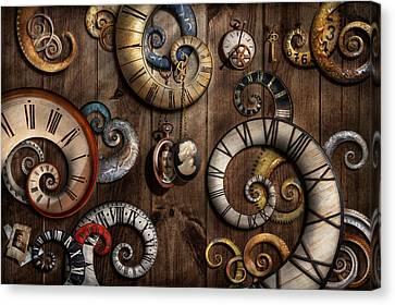 Steampunk - Clock - Time Machine Canvas Print by Mike Savad