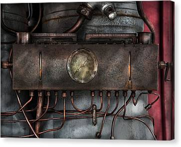Steampunk - Connections   Canvas Print by Mike Savad