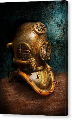 Life Canvas Print - Steampunk - Diving - The Diving Helmet by Mike Savad