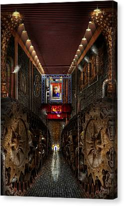 Steampunk - Dystopian Society Canvas Print by Mike Savad